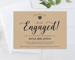 Engagement Party Invitation Template Rustic Diamond Engagement Party Invitation Template 10