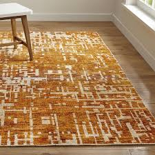 celosia orange hand knotted rug crate and barrel in area rugs decor 15