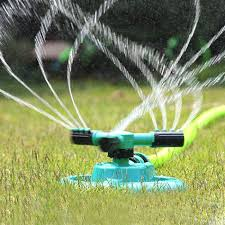 2019 automatic irrigation system garden watering tool lawn green plant watering 360 degree rotating water spray organ gardening set from kyouny