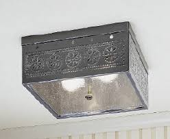 Image Kitchen Square Ceiling Light Fixture Three Finishes Avaiable My Uncle Buck Punched Tin Lightingfarmhouse Lighting
