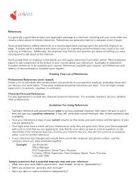 Questions For References On Resume List A How To Make Reference ...
