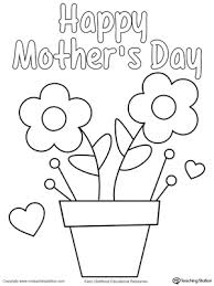 Happy Mothers Day Card Craft Activity kindergarten art and colors printable worksheets on kindergarten printable worksheets