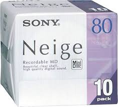 Sony Neige 80 minute blank minidisc <b>10</b> disc pack: Amazon.co.uk ...