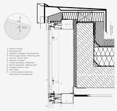 head detail section d curtain wall gammastone architectural design evolutions