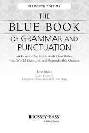 title page for book title page the blue book of grammar and punctuation an easy to