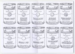 Lofty Ideas Andy Warhol Coloring Pages Cool For Kids Soup Can