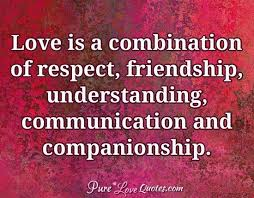 Companionship Quotes Adorable Love Is A Combination Of Respect Friendship Understanding