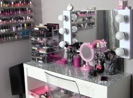 glancing acrylic makeup organizer vanity storage cosmetic