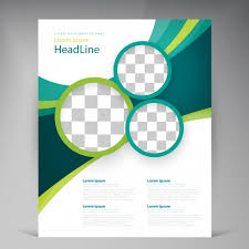 Green Brochure Template Vector Abstract Template Design Flyer Cover With Turquoise And