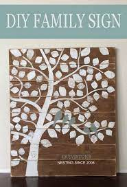 Stratton home décor extra large blooming tree branch wall decor. Family Tree Nesting Birds Sign Family Tree Art Diy Signs Family Tree Painting