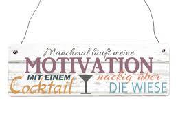 Interluxe Holzschild Manchmal Läuft Meine Motivation Mit Einem