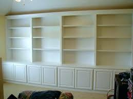 custom built bookcases cabinets custom built bookshelves full wall unit white shelves and cupboards custom shelving