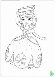 sofia the first coloring page dinokids