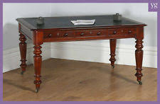 antique office table. Antique English Victorian Mahogany \u0026 Leather Library Partners Table Office Desk