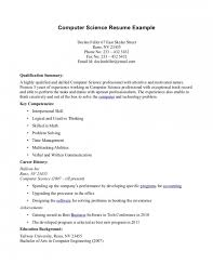 Resume Bachelor Of Science Computer Science Skills Resume Sle Middot Resumes