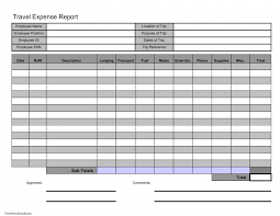 Excel Travel Expense Report Template 015 Employee Expense Report Form Excel Download Template