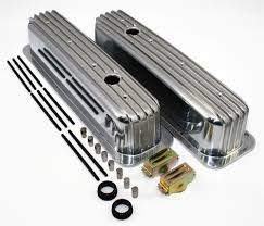 SBC 350 Vortec & TBI Retro Finned Chevy Tall Aluminum Valve Covers ...
