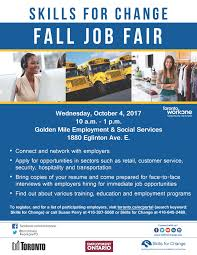 Small Picture Skills for Change Fall Job Fair Employment Social Services