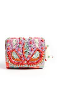 Pom Pom Purse Designer Ricki Designs Pom Pom Beaded Crossbody Bag Crossbody Bag