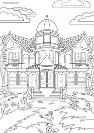 Small Picture Adult Coloring Victorian house Adult coloring and Victorian