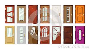 Set of different types of doors.
