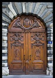 Wooden door designing Throughout Historic Wooden Door Lyon France Styles At Life Top Double Door Designs Styles At Life