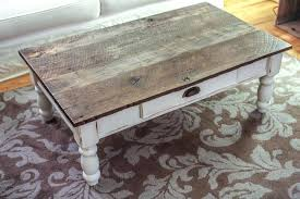 weathered grey wood coffee table square white distressed for and two tone