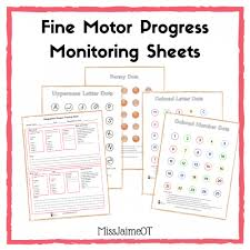 skills tracking sheet how to measure progress with your childs manipulation skills