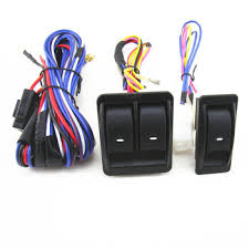 12v universal top quality power window switch kits with wiring Car Wiring Harness at 12 Volt Wiring Harness Kit