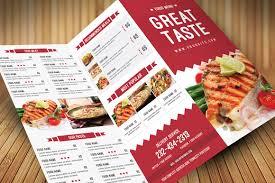 Food Brochure Restaurant Food Menu Brochure Templates Creative Market 1