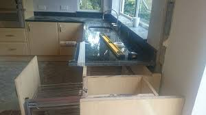 this customer knocked down a wall in the kitchen we altered the layout of the worktops onsite using our cutting service