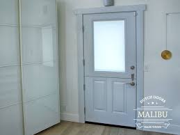 malibu half lite dutch door with white lami glass