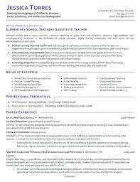 Sample Resume Teachers Elementary School Teacher Resume Template