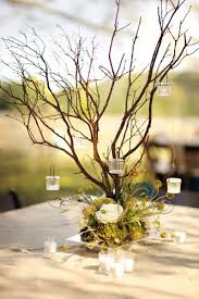 branches and hanging votives rustic wedding centerpiece ...