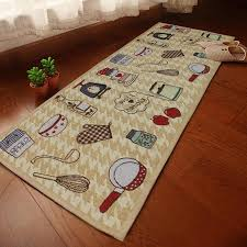 Rug Runners For Kitchen Yazi Jacquard Food Home Party Kitchen Rug Runner Soft Fabric Floor
