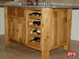 plank pine kitchen island with granite top