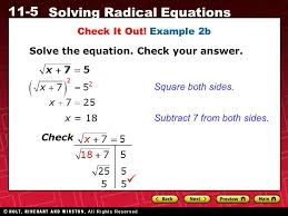 example 2b solve the equation check your answer