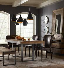 Metal And Wood Kitchen Table Graham Industrial Reclaimed Wood 84 Dining Table Grey Walls