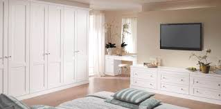 Painted White Bedroom Furniture Verona Pure White Fitted Bedroom From Strachan