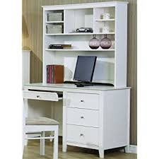 white desk with hutch.  White Selena White Computer Desk With Hutch By Coaster Furniture On With V