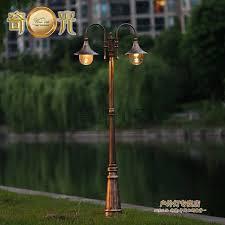 garden lamp post. Europe Vintage Garden Lamp Post Light 2 Heads Lights Fixture Lawn Pathway Pole Lighting Bronze