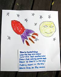 1st grade activity directions first reading to draw