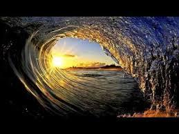 beautiful waves in the sea ocean