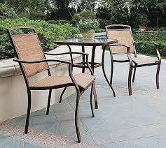 3 piece patio set tan sling outdoor