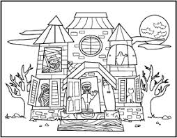 43 Halloween House Coloring Pages Free Printable Halloween Coloring
