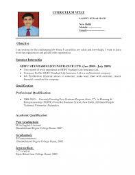 Sample Curriculum Vitae For Job Application Sample Of Curriculum Vitae For Job Application Resume Scholarship