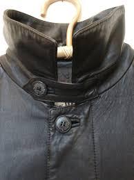 reusedvintageclothing jack daniels long leather jacket black men motorcycle 50 tennesse whiskey biker