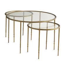 ine gold nesting side tables regarding glass coffee prepare 9 architecture round