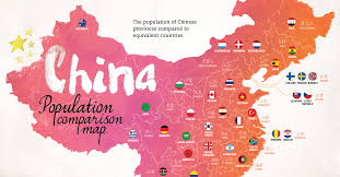 China Size Chart Compared To Usa Map Chinas Provinces Rival Countries In Population Size