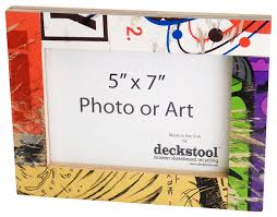 Recycled Skateboard Picture Frame for 5x7 Photo or Art by Deckstool  eclectic-picture-frames